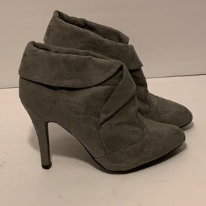 Charlotte Russe grey boots shoes size 7